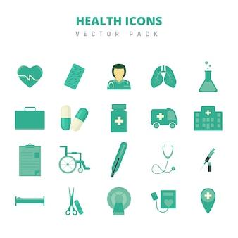 Paquete de vectores de iconos de salud