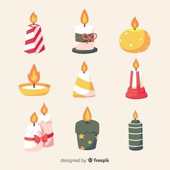 Paquete velas navidad