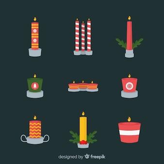 Paquete velas navideñas planas