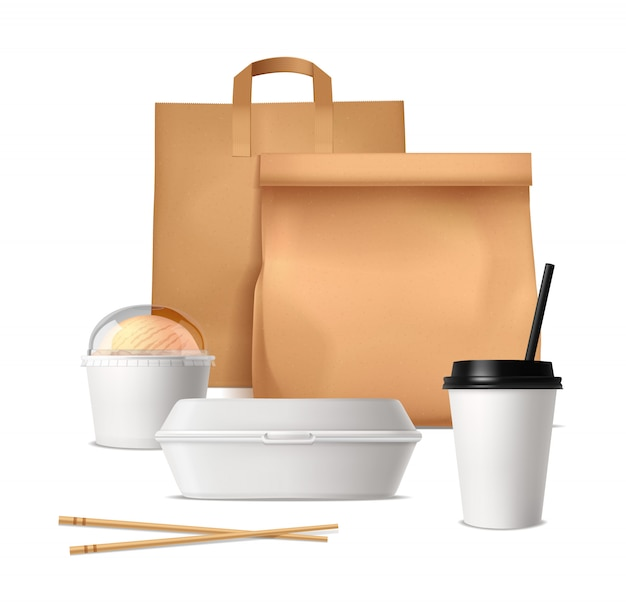 Paquetes de comida rapida