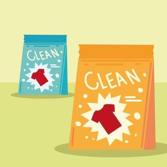 Paquetes de jabón en polvo