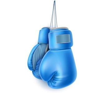 Par azul realista de equipo de protección de puños de caja