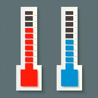 Par de termómetro