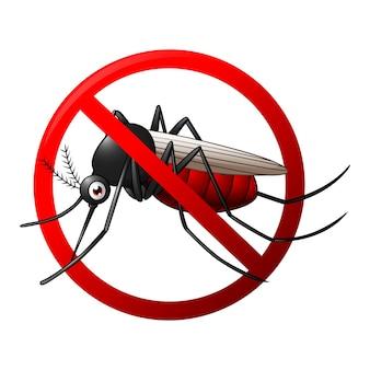Parar el símbolo del mosquito