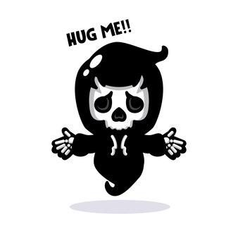 Parca de dibujos animados quiere abrazar