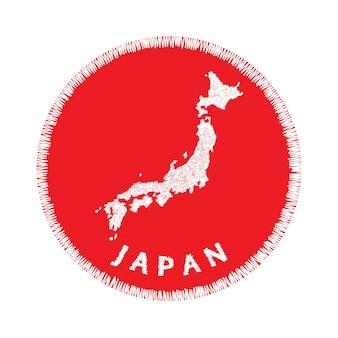 Parche de bordado japón mapa