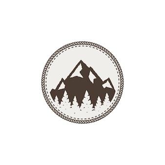 Parche de montaña y pegatina.