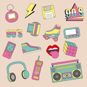 Parches de la moda de los años 90