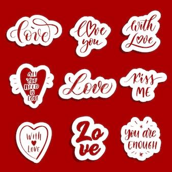 Parches y pegatinas de amor