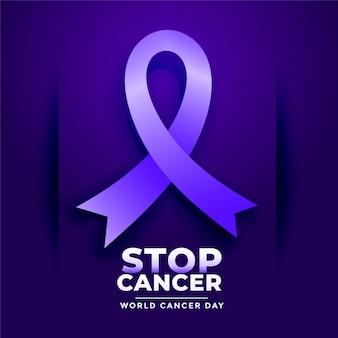 Pare el cartel del cáncer para el día mundial del cáncer