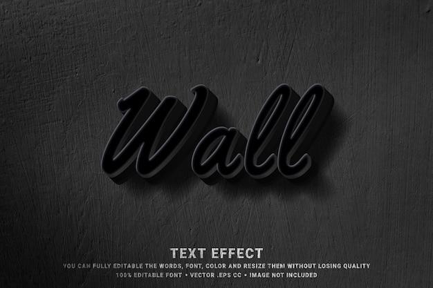 Pared 3d - efecto de estilo de texto