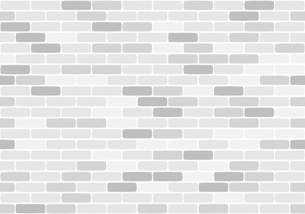 Pared de ladrillo blanco de patrones sin fisuras, ilustración