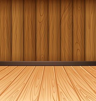 Pared de madera y azulejos de madera