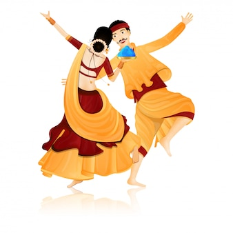 Pareja de baile indio.