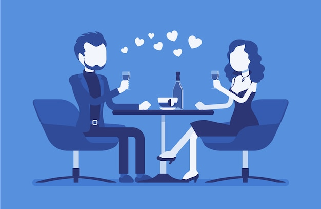 Pareja en una cita romántica