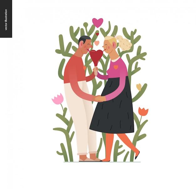Pareja enamorada - gráficos de san valentín