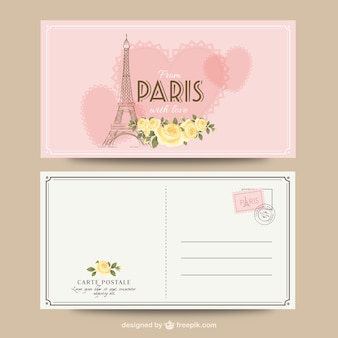 París tarjeta postal romántica