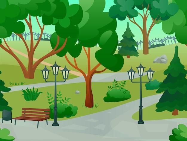 Parque 2d paisaje del juego