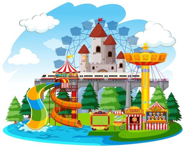 Un parque de atracciones aislado