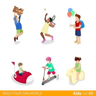 Parque de atracciones de recreación activa diversión deportes adolescentes niños