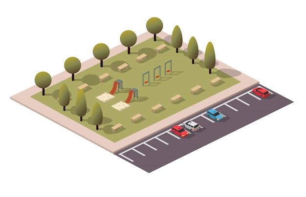 Parque de juego isométrico