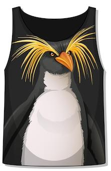 Parte delantera de la camiseta sin mangas con estampado de pingüinos