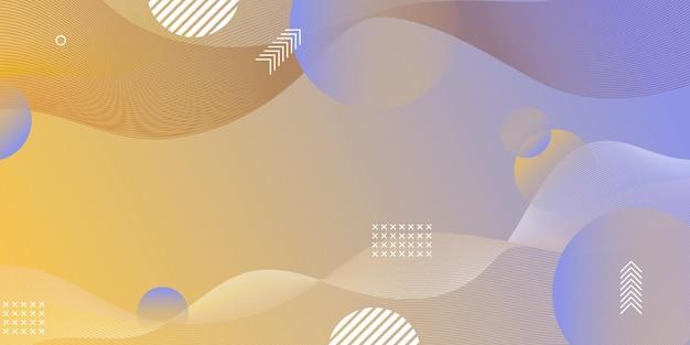 Parte de la pantalla del sitio web horizontal creativa para el desarrollo de proyectos de diseño web receptivo. maqueta de diseño de banner de patrón geométrico abstracto. plantilla de ilustración de vector de bloque de página de destino corporativa
