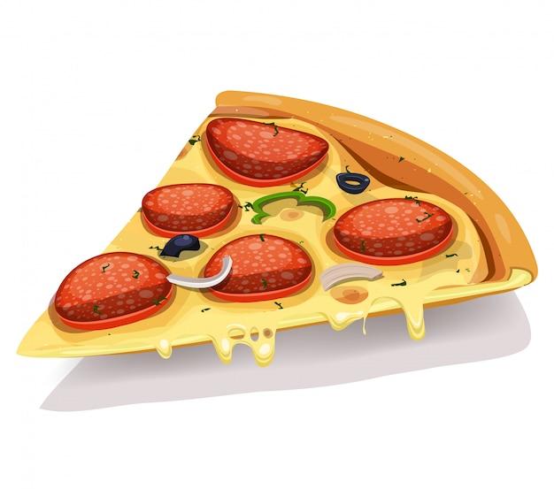 Parte de pizza de queso y pepperoni