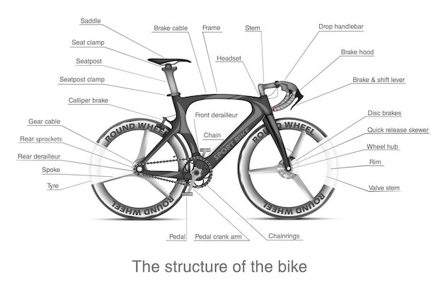 Partes de la bicicleta.