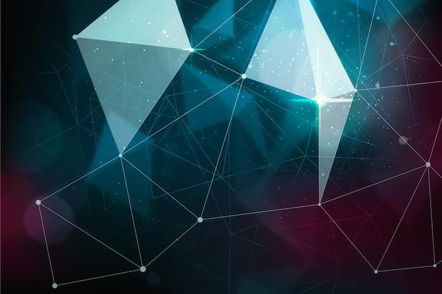 Partícula de tecnología realista abstracta de fondo