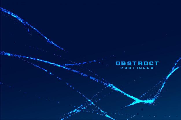 Partículas abstractas líneas fractales fondo de tecnología