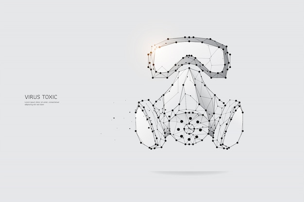 Las partículas, arte geométrico, línea y punto de máscara de protección