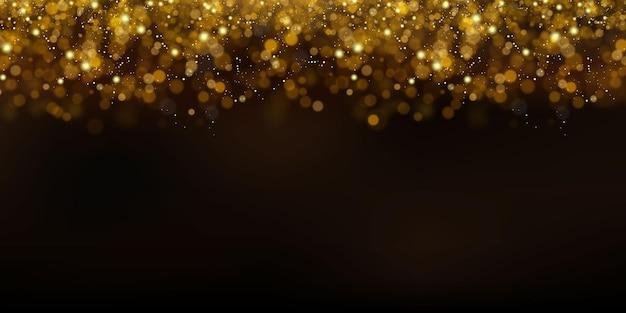 Partículas brillantes de polvo de hadas.