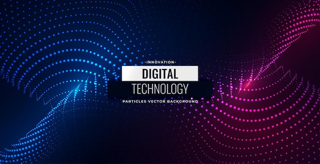 Partículas digitales que fluyen diseño de fondo