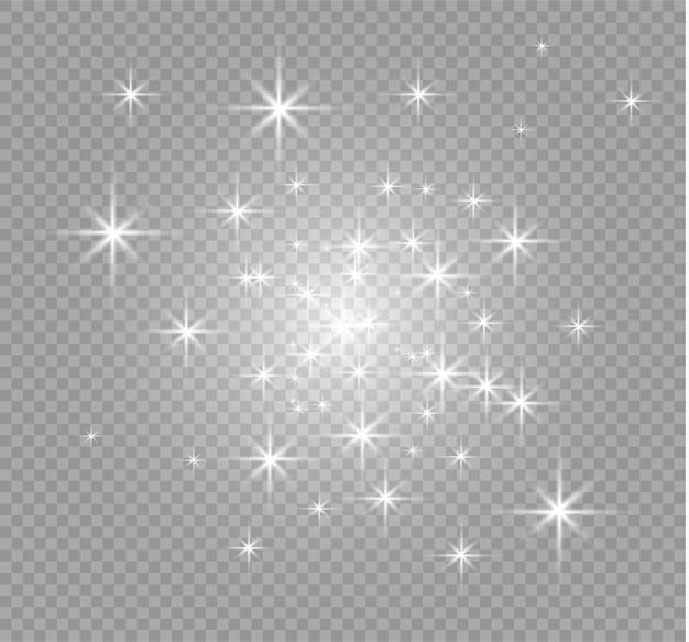 Las partículas de polvo vuelan en la ilustración del espacio