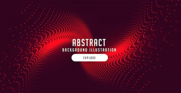 Partículas rojas estallan fondo de movimiento abstracto