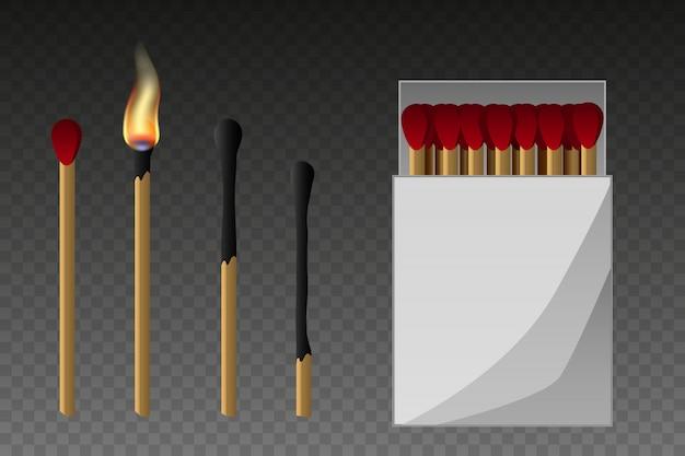 Partidos, fósforo encendido y fósforo quemado