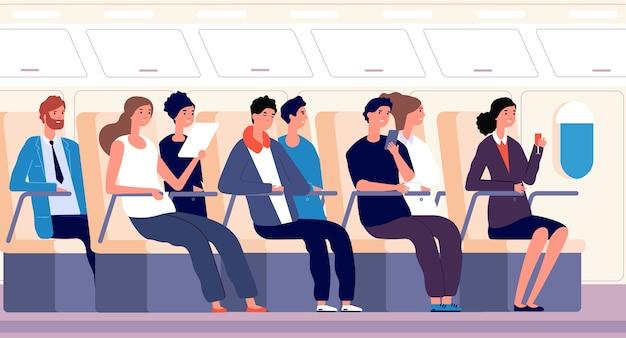 Pasajeros en avion
