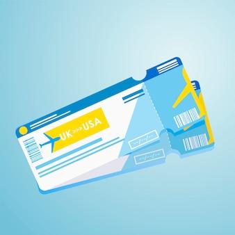 Pasaporte extranjero dos billetes de avión.