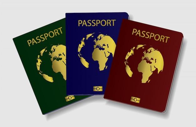 Pasaporte internacional de un ciudadano.