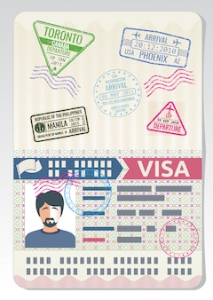 Pasaporte personalizado abierto