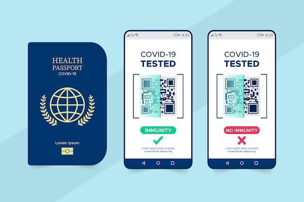 Pasaporte sanitario plano