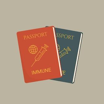 Pasaporte de vacuna certificado de vacunación, pasaporte de inmunidad