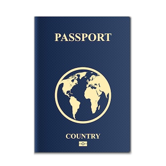 Pasaportes con mapa del mundo, documento de identificación.