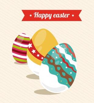 Pascua de diseño ilustración beige
