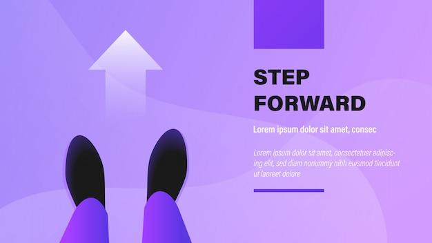 Un paso adelante.