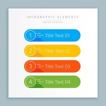Pasos en banners de infografía en colores