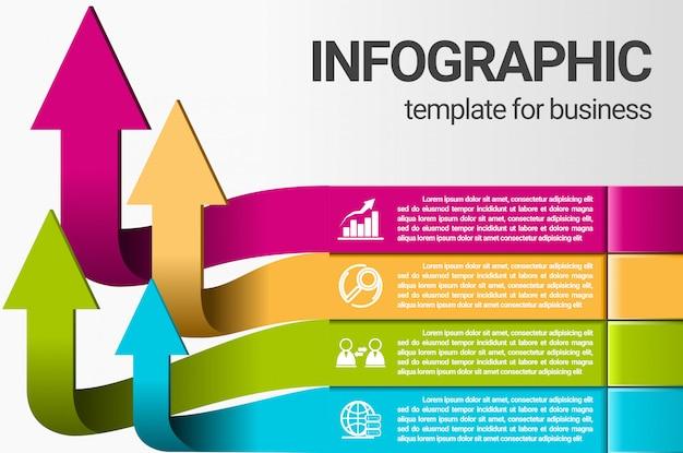 Pasos comerciales de infografía para el éxito