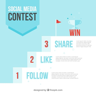 Pasos de concurso de medios de comunicación social