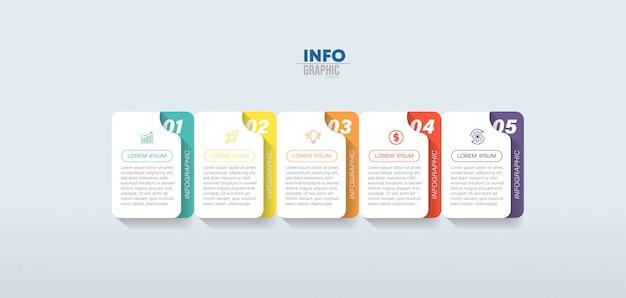 Pasos de elementos de infografía